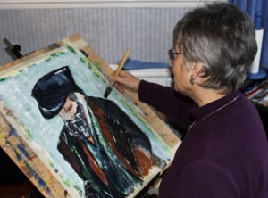 Sue Kyme in her studio